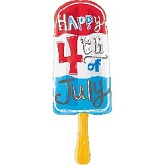 "32"" July 4th Popsicle Mylar Balloon"