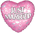 Wedding and Marriage Mylar Balloon