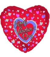 "18"" Happy Valentine's Day All Over Hearts"