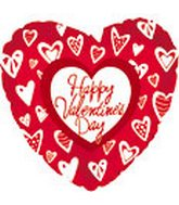 "18"" Happy Valentine&#39s Day Crazy Hearts"