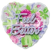 18&#39&#39 Feel Better Floral Roses Balloon