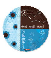 "18"" Get Well Soon Feel Better Blue"