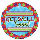"18"" Get Well Dots and Stripes"