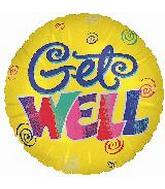 18&#39&#39 Get Well Swirls Yellow