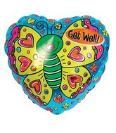 "18"" Get Well Holographic Butterfly"