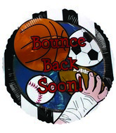 "18"" Bounce Back Soon Sports Get Well Balloon"