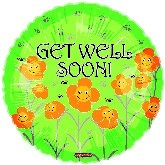 "18"" Get Well Balloon Flower Smiles"