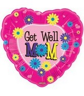 "18"" Get Well Mom Colourful Daisies"