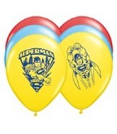 "11"" Superman Latex Balloons"