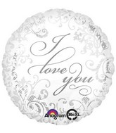 "18"" Elegant I Love You Mylar Balloon"