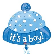 "19"" It&#39s A Boy Hat Mylar Balloon"