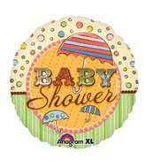 "18"" Baby Shower Umbrellas Mylar Balloon"