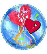 "20"" I Love You Hearts Balloon"