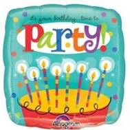 "18"" Time To Party Cake Mylar Balloon"