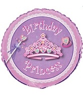 "18"" Birthday Princess Unique Foil Balloon"