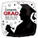 "18"" Congrats Grad Man Balloon"