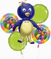 "Backyardigans Balloon Bouquet (4 18"" Balloons, 1 Jumbo)"