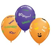 "11"" Booo-Eeeak Jack Faces Assortment Latex Balloons"