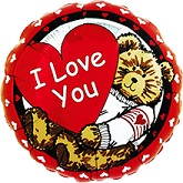 "36"" Jumbo I Love You Bear Balloons"
