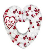 "14"" I Love You Mosaic Heart Balloon"