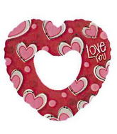 "14"" I Love You Red Heart Balloon"