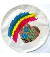 "9"" Airfill Get Well Rainbow M628"