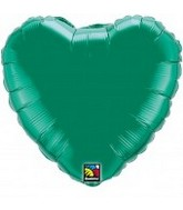 18&#39&#39 Emerald Green Heart Balloon