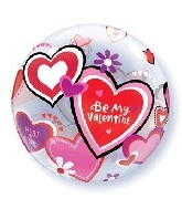 "22"" Be My Valentine Day Bubble Balloon"