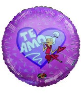 "18"" Te Amo Spanish Love Jetsons Licensed Pink Hearts Balloon"