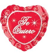 "18"" Te Quiero Brillo Del Diamante Spanish Foil Balloon"