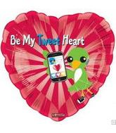 "18"" Be My Tweet Hearts Balloon"