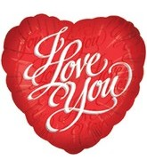"18"" I Love You  Red Script Balloon"