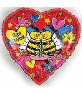 "18"" Bee Mine Peek Through Design"