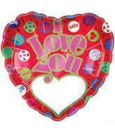"18"" I Love You Hugs & Kisses Add-A-Name"