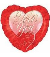 "18"" I Love You Curly Mylar Balloon"