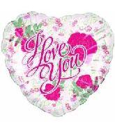 "18"" I Love You Classic Roses Balloon"