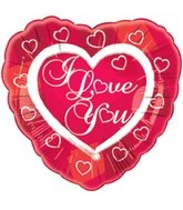 "18"" I Love You Heart Border"