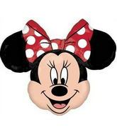 "28"" Red Bow Minnie Mouse Head Balloon"