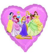 "18"" Disney Princesses No Message Mylar Balloon"
