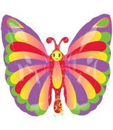 "25"" Beautiful Butterfly Mylar Balloon"