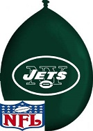 "11"" Latex Balloons New York Jets Neck Up"