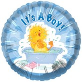 "18"" It&#39s a Boy Baby Duck Bath Balloon"