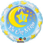 "18"" Es Un Nino Nursery Spanish Balloon"