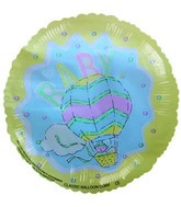 "4"" Airfill For Baby Yellow Splash Balloon"