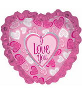 "31"" I Love You Fancy Pattern Hearts"