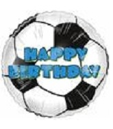 "4"" Airfill Happy Birthday Soccer Ball M339"