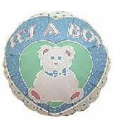 "4"" Airfill It&#39s a Boy Bear Balloon"