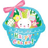 "37"" Large Shape Blue Easter Basket"
