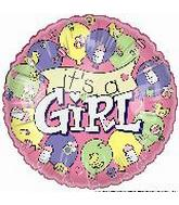 "4"" Airfill It's a Girl Banner"