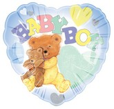 "18"" Baby Boy Bear Add-A-Name Yellow Lettering"